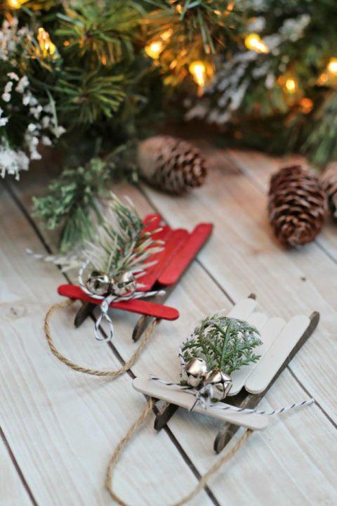 Lindo enfeite de Natal reciclado com palitos de picolé