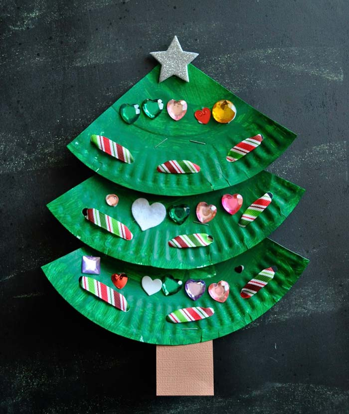 Modelo de árvore de Natal reciclada