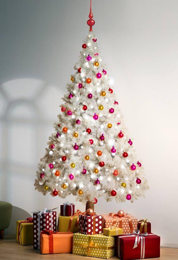 Paleta de cores quentes para uma árvore branca