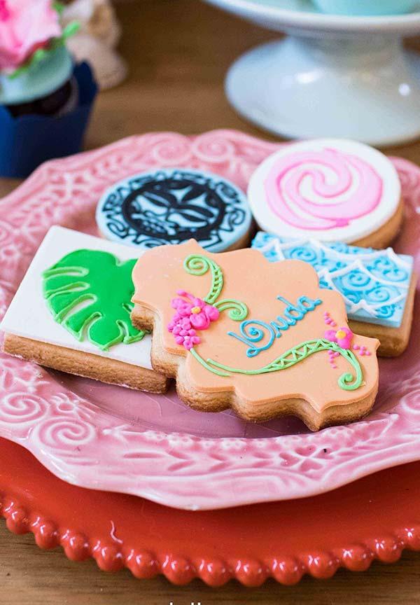 Biscoitos para festa Moana provençal