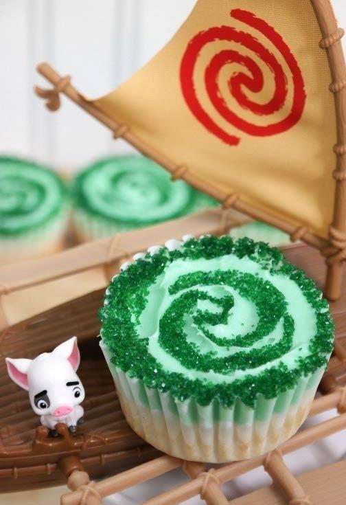 Cupcake floresta para a festa