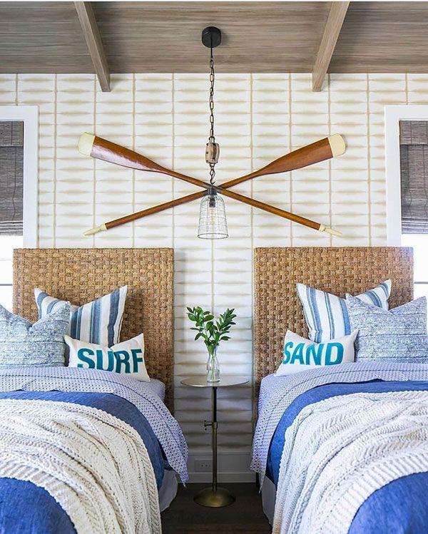 Decore o quarto na praia com o clima marítimo