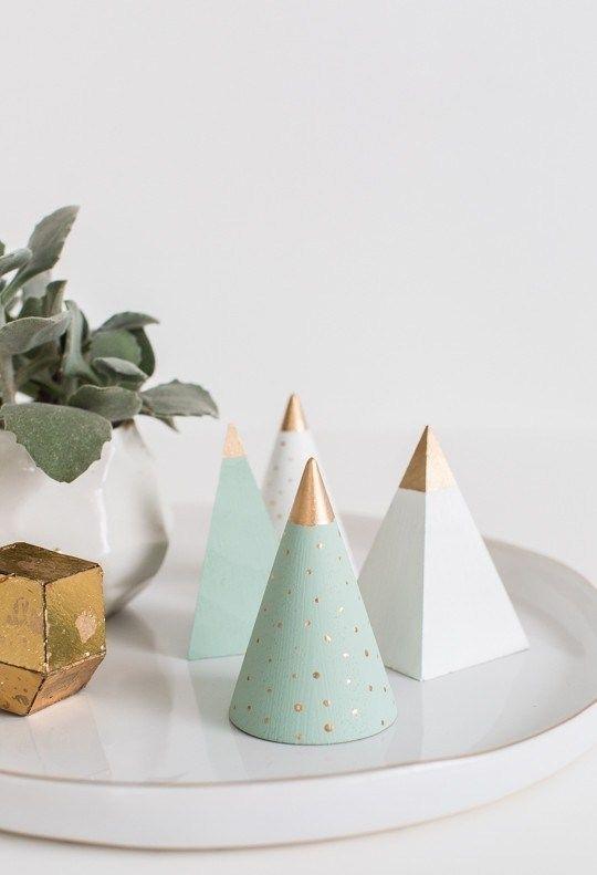 Cone e pirâmides: uma escolha minimalista.