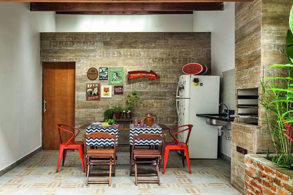 Área de Lazer Com Churrasqueira 50 Ideias Atuais, Fotos e Projetos -> Decoração Para Area Externa Churrasqueira