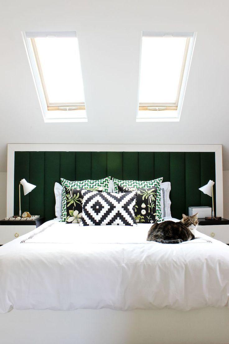 A própria cama pode receber o estofado para a cabeceira