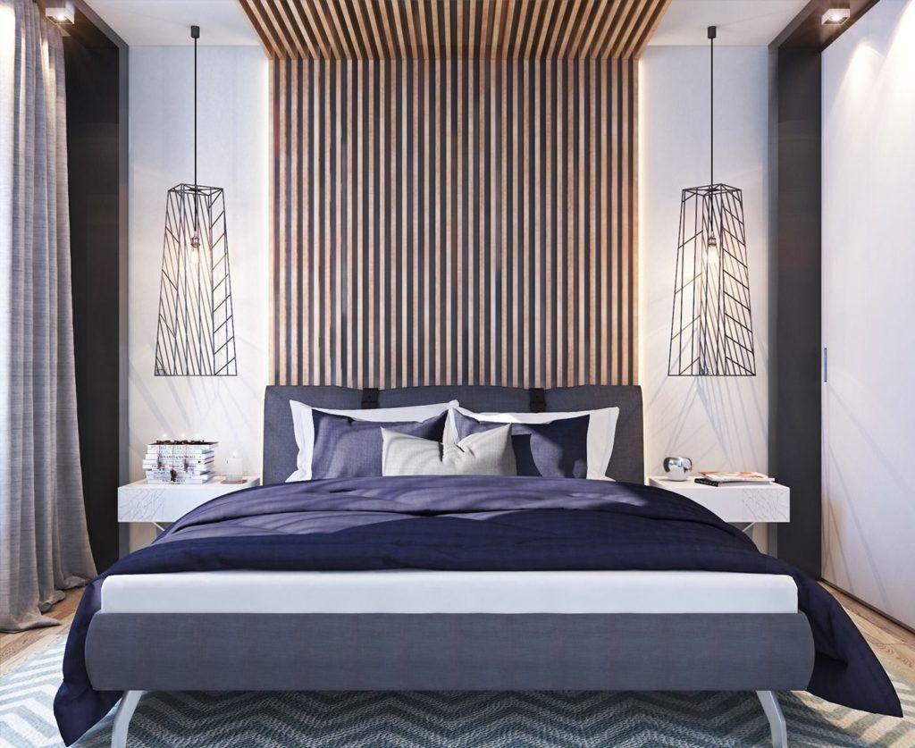 A cama ganha mais destaque com as faixas fixadas na própria cabeceira