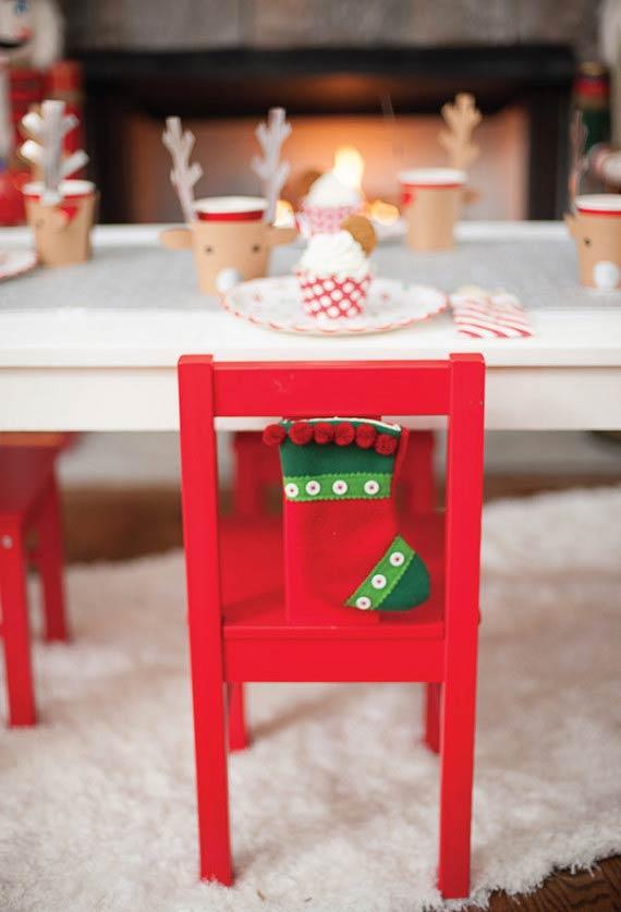 Meia natalina para todos os seus convidados