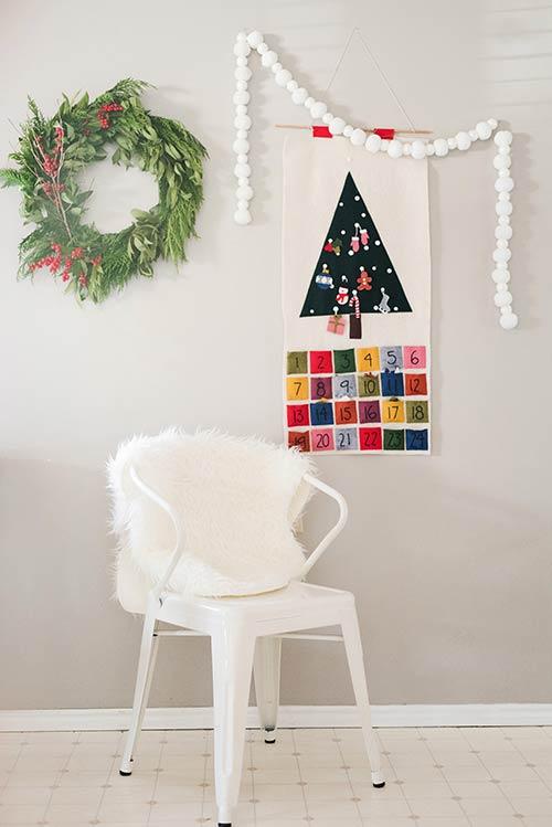 Calendário artesanal para Dezembro