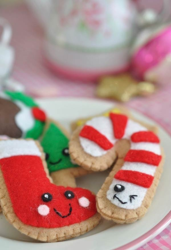 Gingerbreads fake de feltro