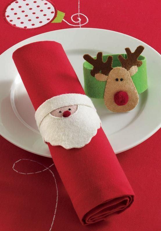 Anéis natalinos para guardanapo