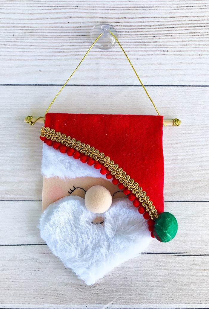 Estandarte do papai Noel em feltro