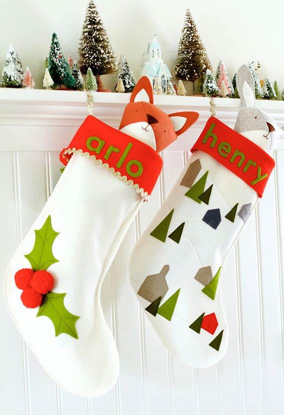 Mais meias decorativas para a decoração de Natal