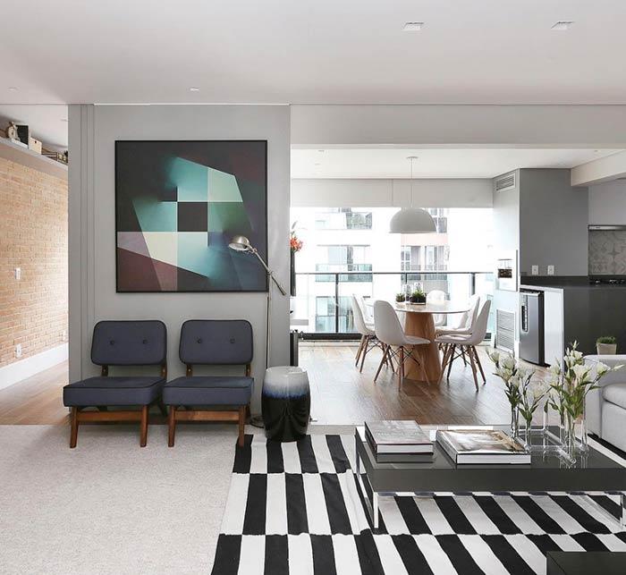 Quadro para sala com formas geométricas