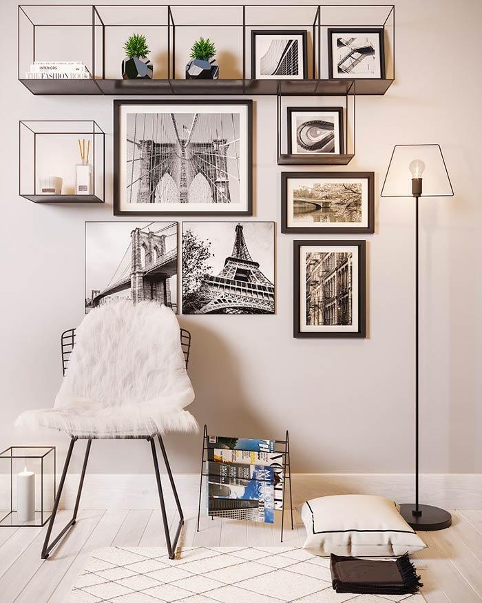 Fotografias de móveis minimalistas