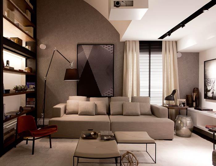 Estampa geométrica impressa em vidro para quem procura uma decoração contemporânea