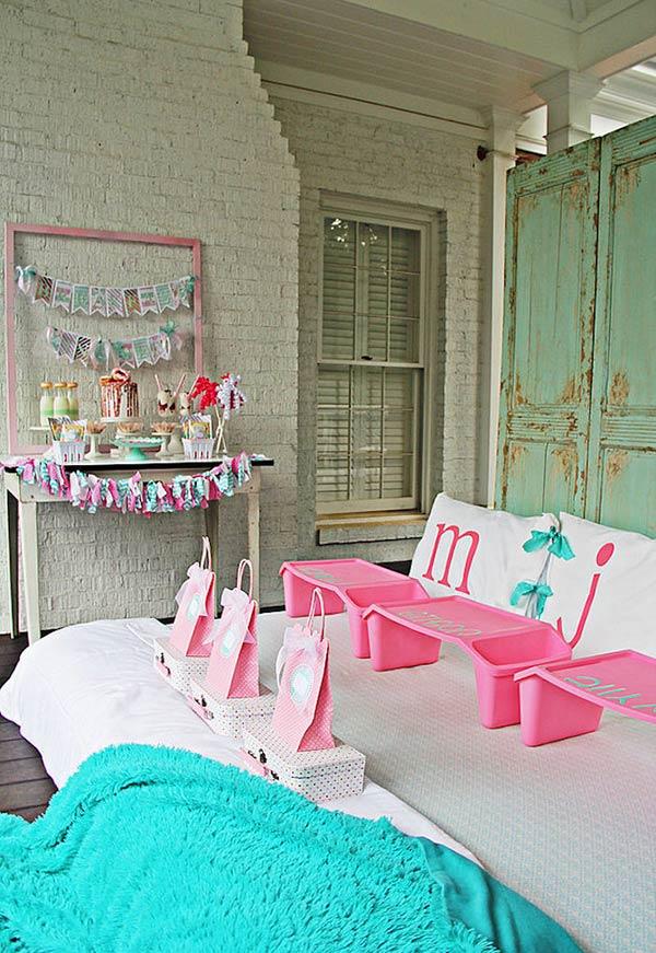 Festa do pijama na varanda