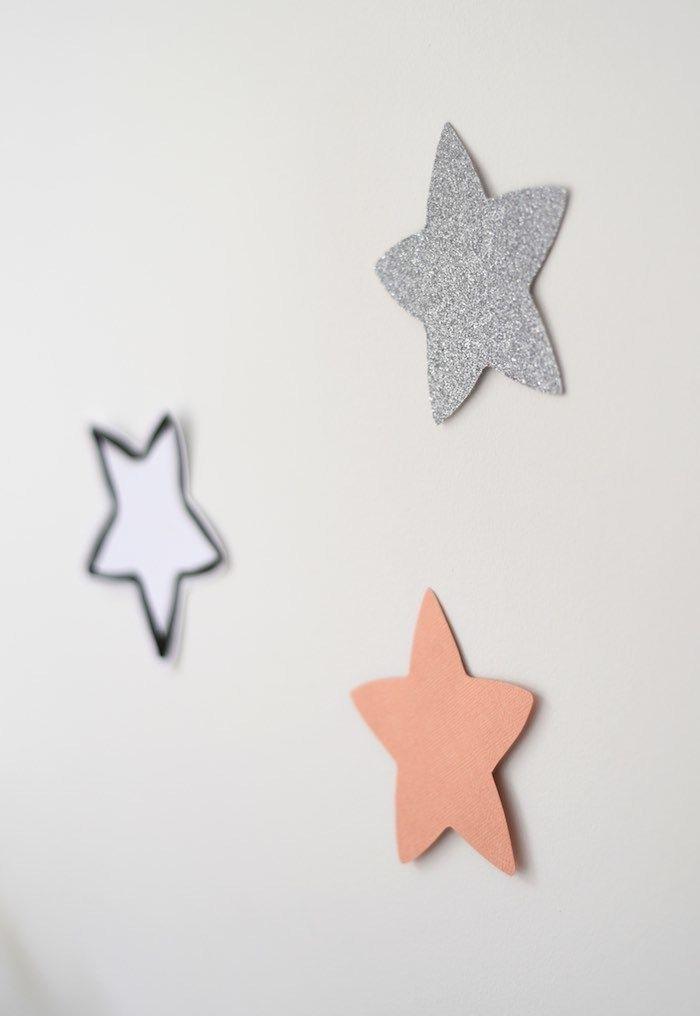 Estrelas brilhando na parede