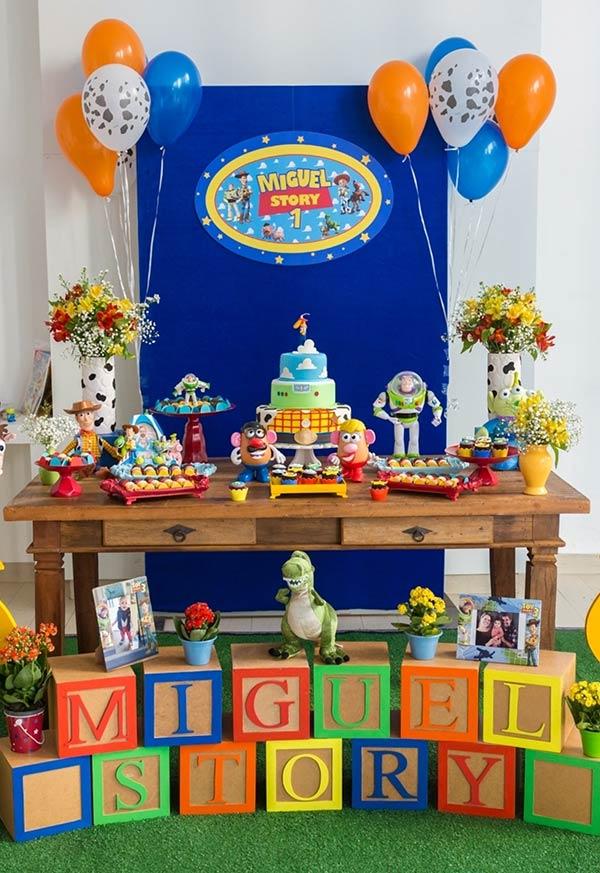 Decoração baby da festa Toy Story