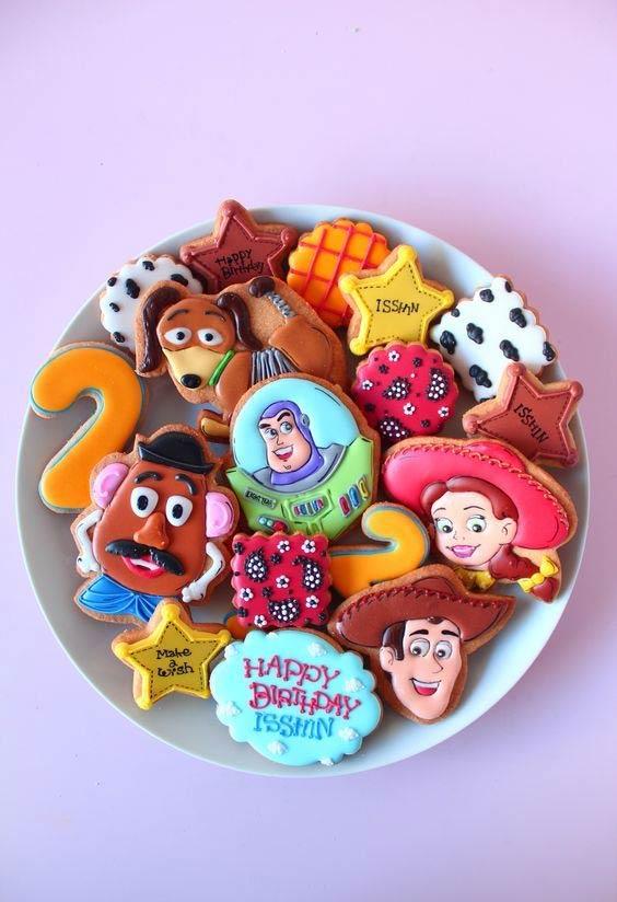 Biscoitos amanteigados super decorados