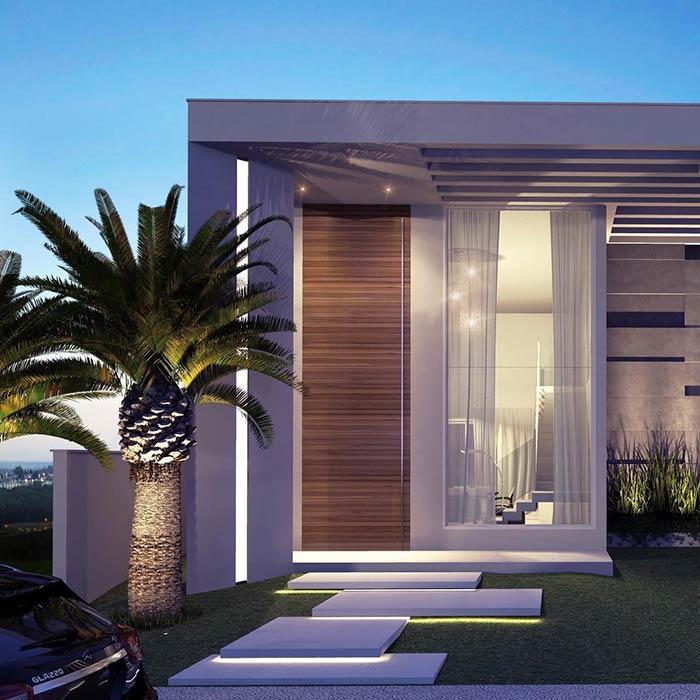 Entradas de casas 60 dicas e ideias para decorar a sua casa for Fachadas de casas modernas 1 pavimento
