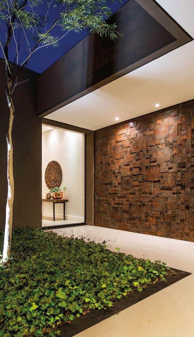 Decore a parede da entrada