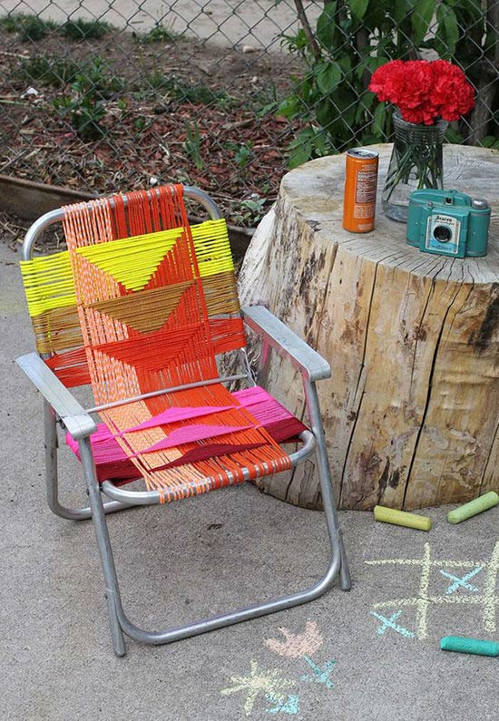 Trama artesanal para cadeira de palha