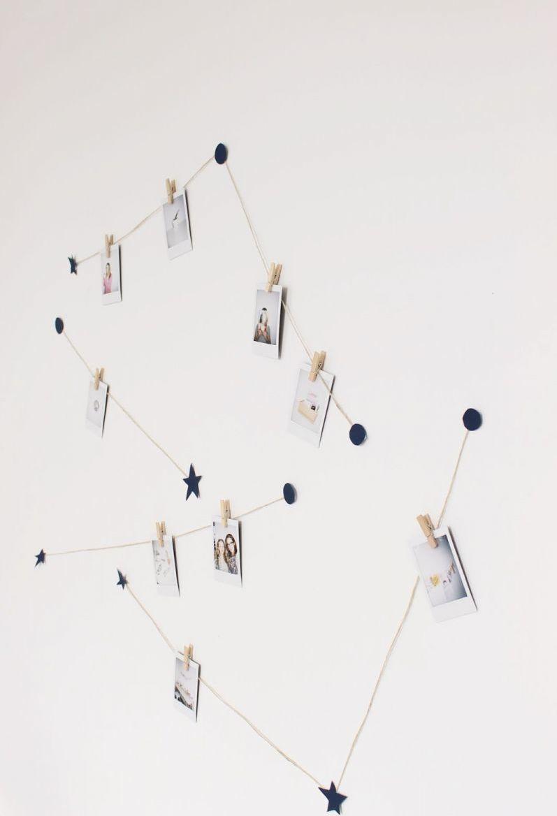 Varal constelação com barbante