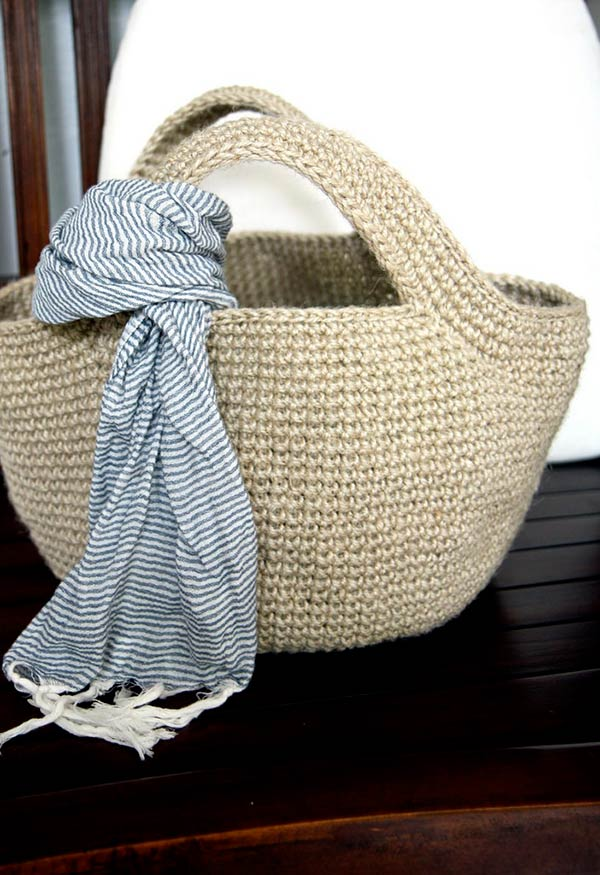 Bolsa de praia de tricô