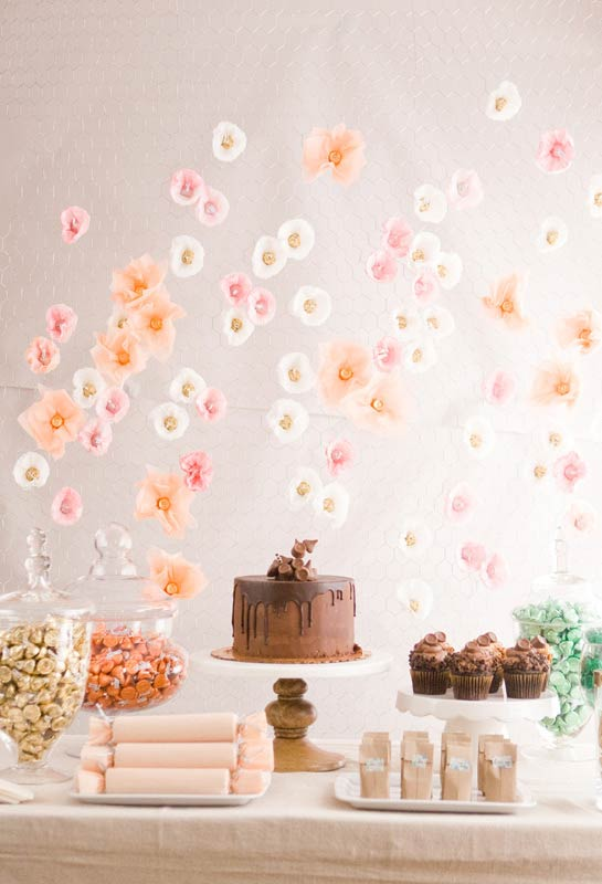 Flores com filtro de café
