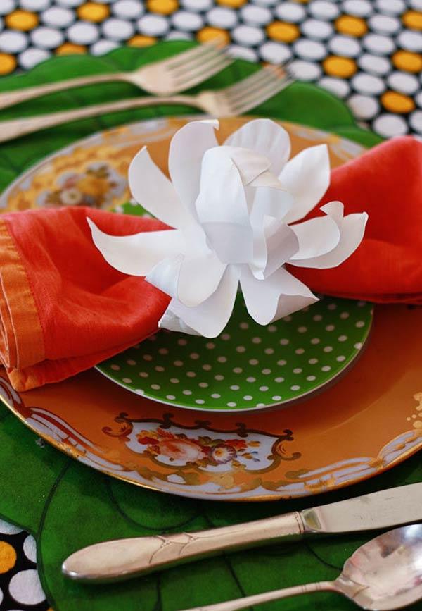 Flor para anel de guardanapos
