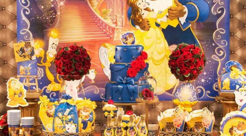 Festa Bela e a Fera: 60 ideias de decoração e fotos do tema