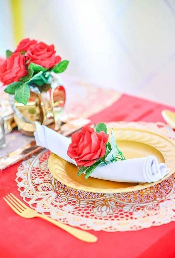Rosas na decoração