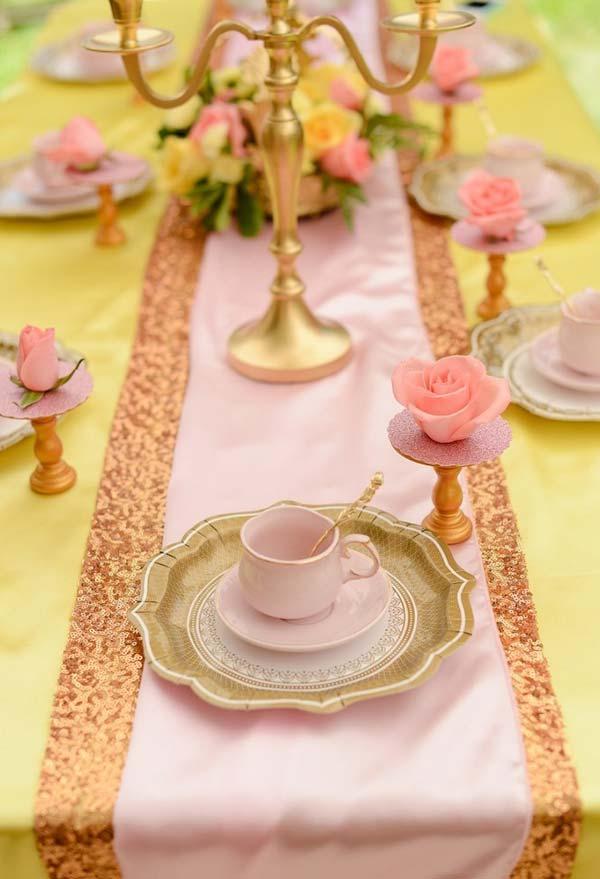Delicadeza na decoração das mesas