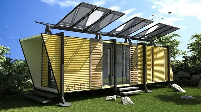 Painéis solares fazem parte da arquitetura