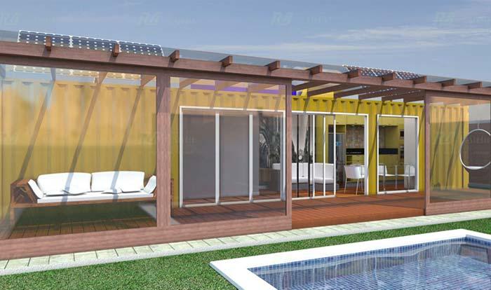 Portas de vidro fazem parte da integração do ambiente interno e externo