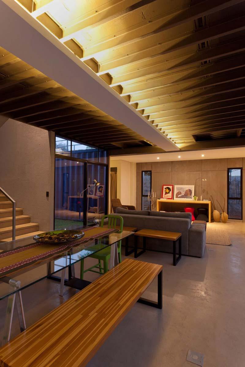 Casa container com decoração moderna
