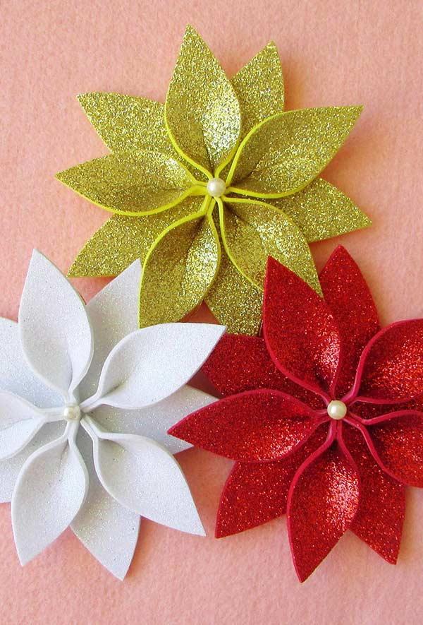 Enfeites de Natal em EVA 60 Ideias e Como Fazer Passo a Passo -> Decoração Em Eva Natal