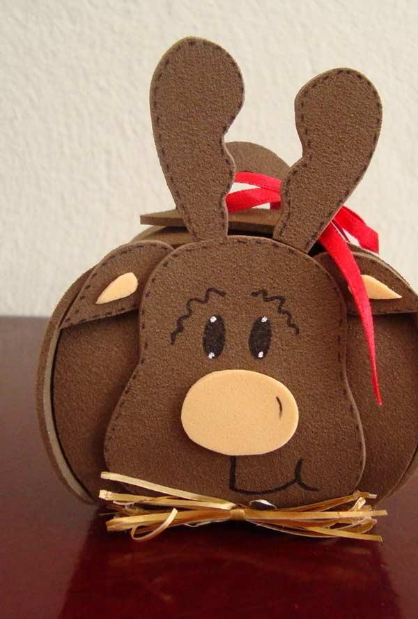 Embalagem para lembrancinha de rena