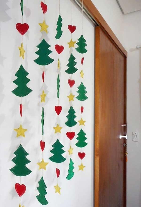 Garland para formar uma cortininha com os símbolos de natal
