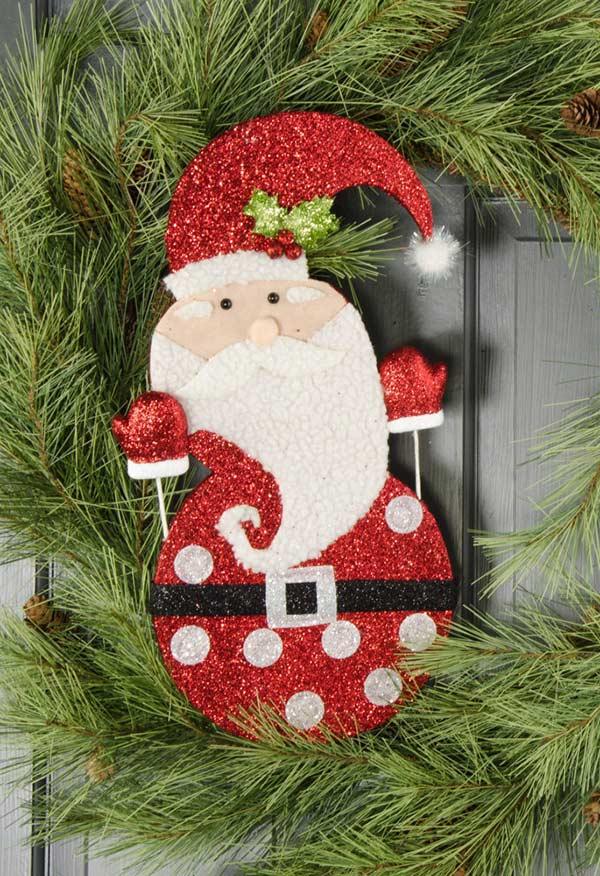 Papai Noel em EVA e muito, muito glitter