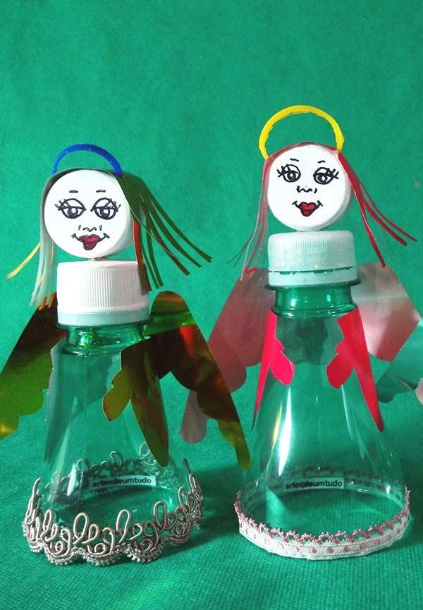 Anjinhos no estilo reciclagem