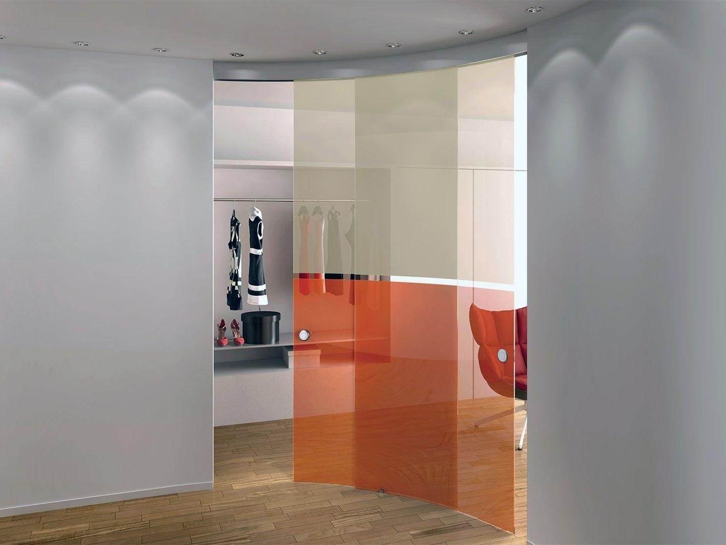 Modelo de porta de vidro arredondada