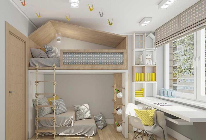 Para quem quer fugir de quartos datados: cama montessoriana