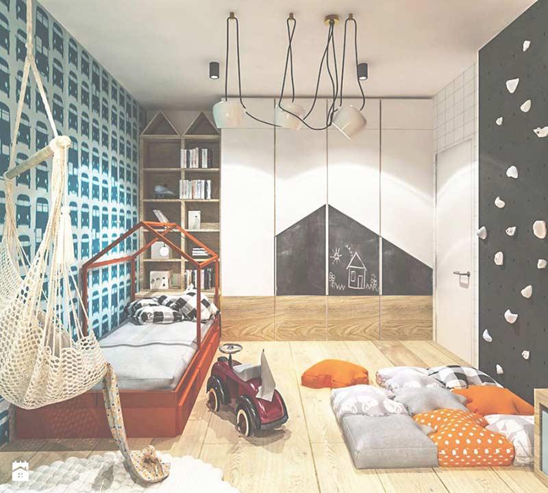 Cama montessoriana com gavetas