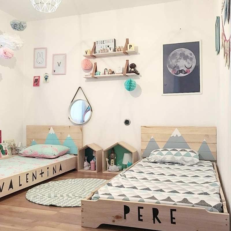 Personalize as camas pintando os nomes