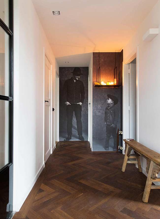 Efeito criativo para o fundo do corredor