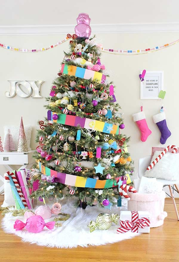Árvore de Natal da terra dos doces