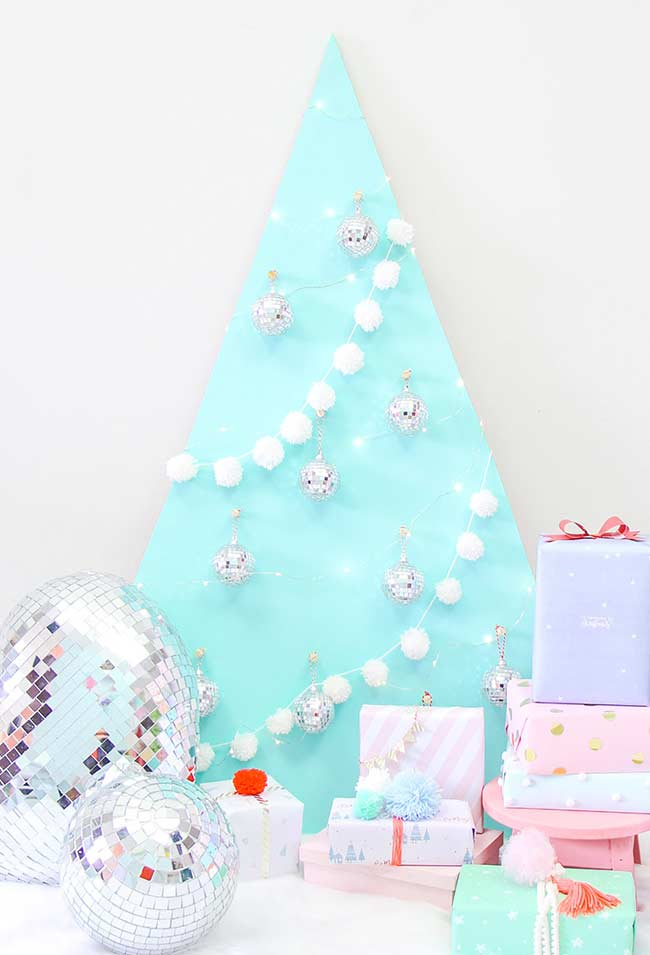 Árvore de Natal decorada diferente