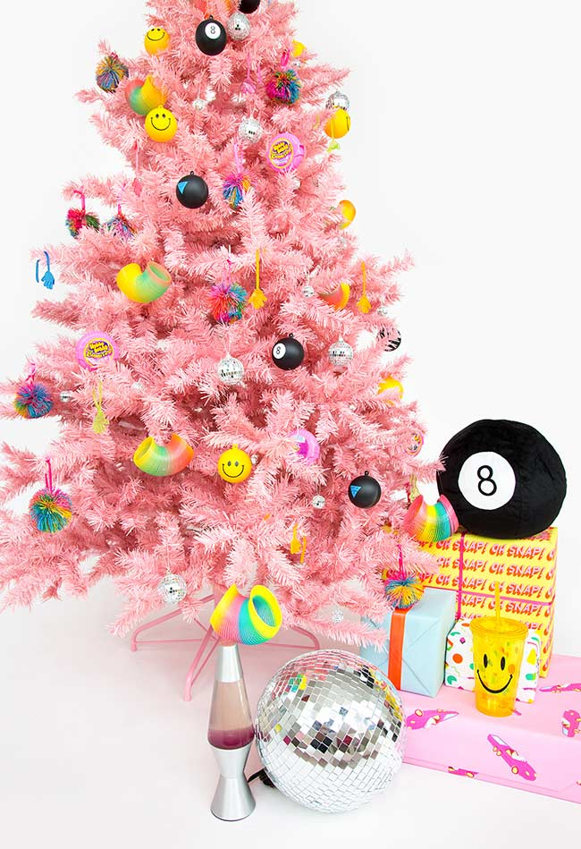 Árvore de Natal no estilo nostalgia