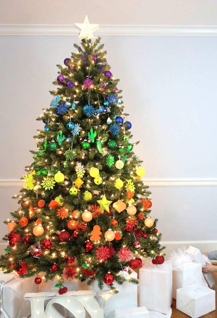 Um degradê perfeito para a decoração da árvore